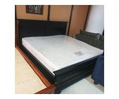 6 BY 6 BED, BLACK BED