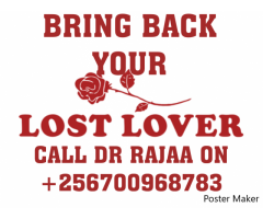 Get back your lost lover in Ug.call +256700968783