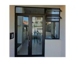 standard commercial aluminium door fronts