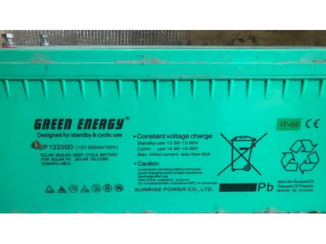 Four 200Amp/h inverter batteries