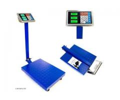 Stainless steel top platform scale with rail