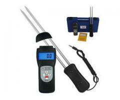 Handheld moisture meter for cereals