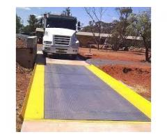 Checkered plate or 10mm plain plate weighbridge