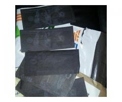 Humine Activation powder for black, stamped money