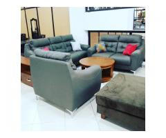 6 SEATER GRAY LEATHER
