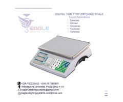 Portable table top electronic weighing scales