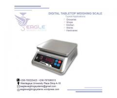 Portable table top waterproof weighing scales