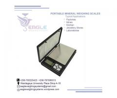 Body pocket weighing scale for minerals